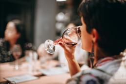 wine glass sip